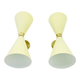 Pair of Large Diabolo Wall Sconce, 1950s For Sale