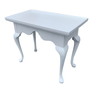 White Traditional Console Table For Sale