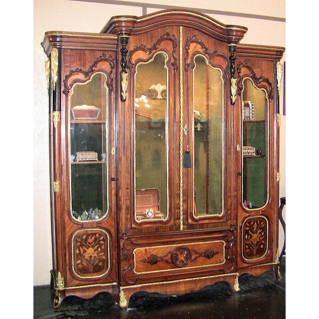 19c French Neo-Classical Revival Style Vitrine - Imposing Piece For Sale - Image 12 of 12