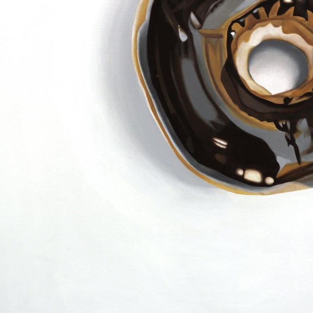 "Acrylic Paint ""Donut"" Original Photorealism Artwork For Sale - Image 7 of 8"