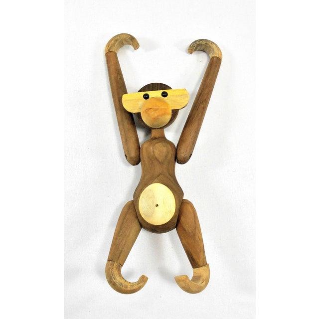 Vintage Carved Wooden Hanging Monkey - Image 8 of 10