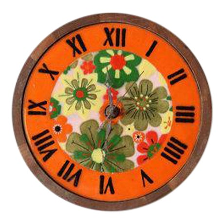 Italian Pottery & Teak Wall Clock - Image 1 of 4