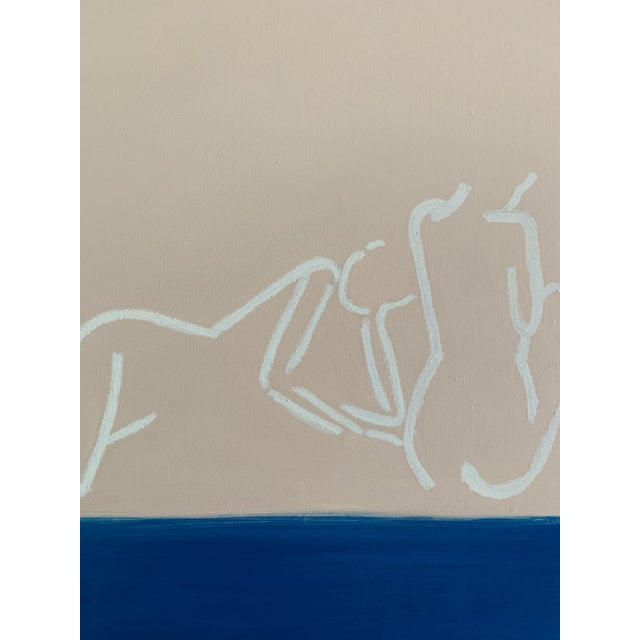 """Canvas """"La Mer""""Contemporary Painting by Lindsey Weicht For Sale - Image 7 of 8"""