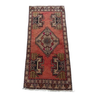 """Small Turkish Oushak Rug Mat 1'7"""" X 3'5"""" For Sale"""