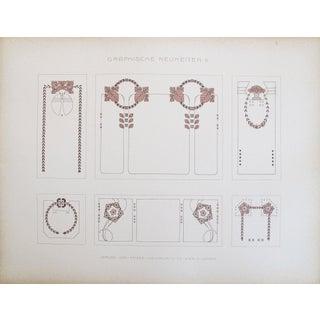 Vintage German Designer Sheets, C. 1900 -Set of 3 For Sale