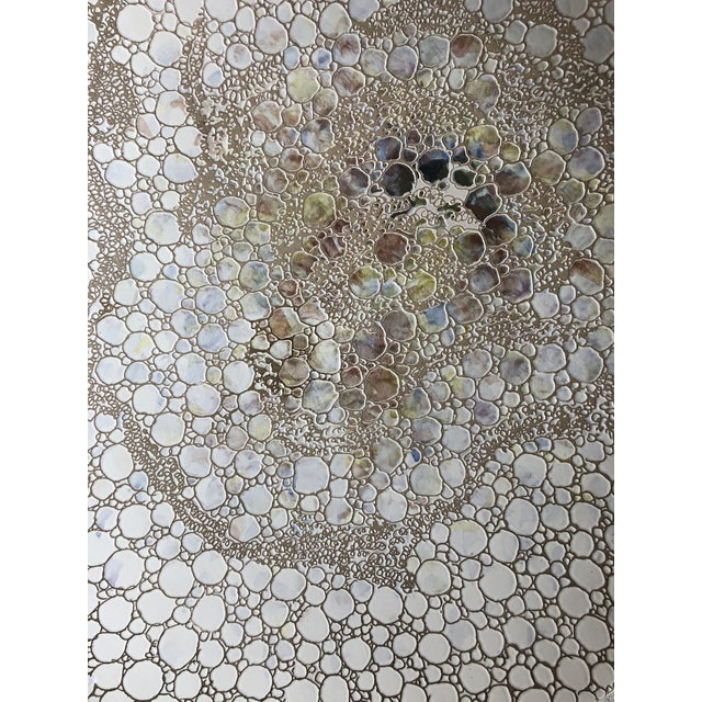 Boho Chic Large Italian Pottery Wall Art by S.Stefano For Sale - Image 3 of 6