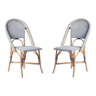 Serena and Lily Riviera Side Chairs - A Pair For Sale