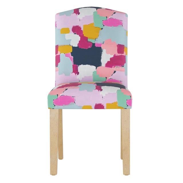 Textile Camel Back Dining Chair in Joyful Navy Oga For Sale - Image 7 of 7