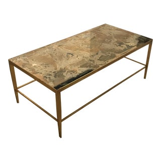 Gold Antique Mirrored Coffee Table