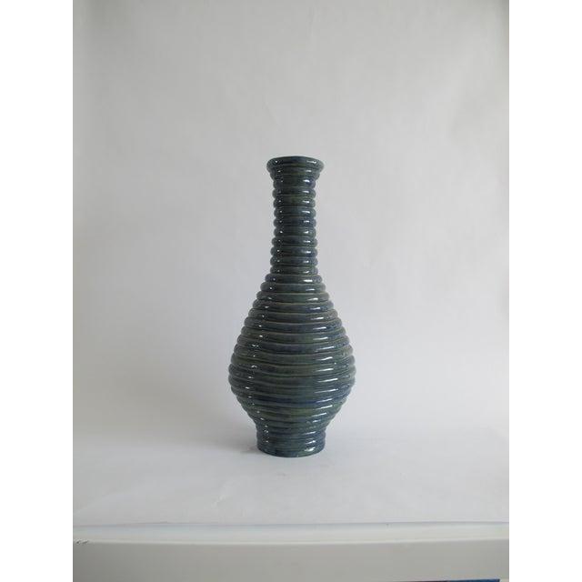 Blue Coil Floor Vase - Image 3 of 5