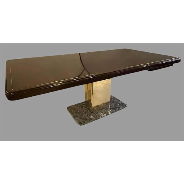 Warren Platner for Knoll desk. Mid-Century Modern on a rosewood, brass and marble base. This large and impressive...