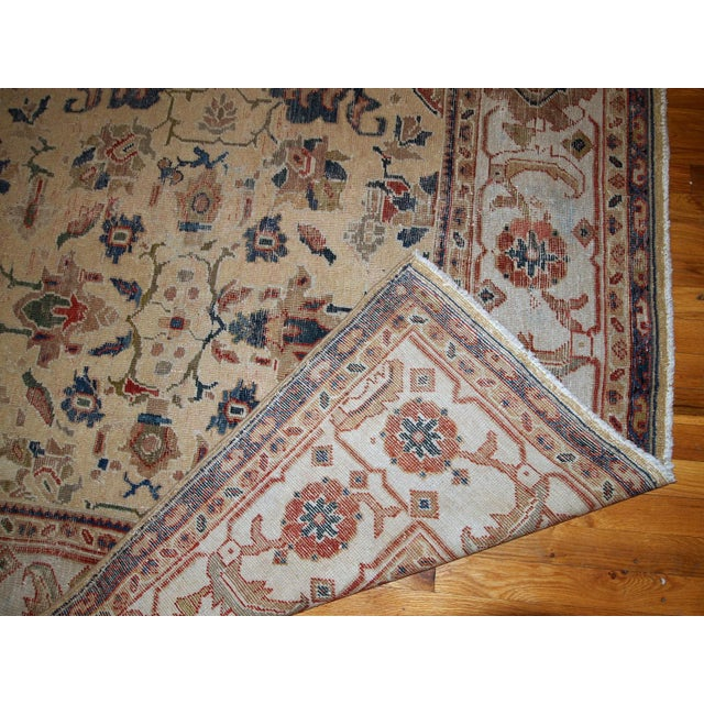 1900s Handmade Antique Persian Mahal Distressed Rug 8.10' X 11.6' For Sale - Image 4 of 9