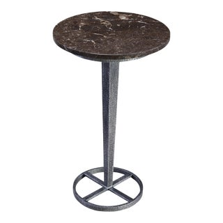 Sarreid Ltd Marble Top Drink Table For Sale