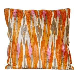 Orange Silky Large Scale Pillow For Sale