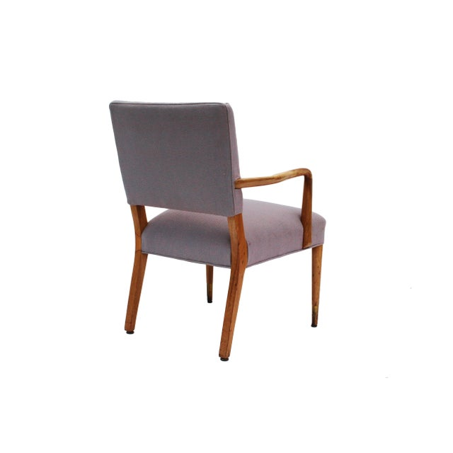 Mid-Century Sculpted Walnut Frame Armchair by Stow & Davis For Sale - Image 6 of 10