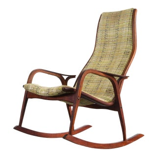 Lamino Rocking Chair in Gorgeous Original Upholstery by Yngve Ekström for Swedese For Sale