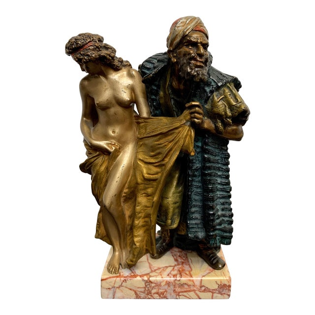 Cold Painted Orientalist Vienna Bronze by Franz Bergman For Sale
