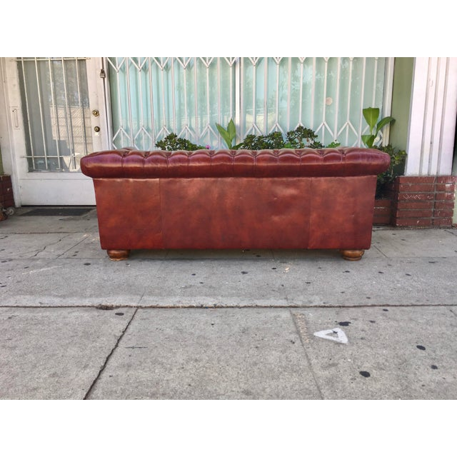 Vintage Chesterfield Leather Sofa - Image 5 of 5