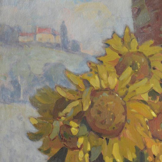 2010s John C. Traynor, Sunflowers in Red Porcelain, 2014 For Sale - Image 5 of 6