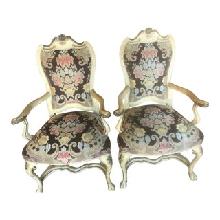 Venetian Style Armchairs - A Pair For Sale