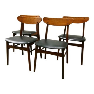 Set of 4 Danish Teak Dining Chairs by Farstrup