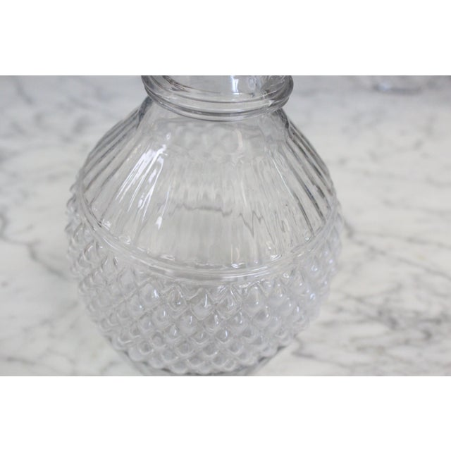 Lightweight blown three-mold decanter with stopper likely made at Sandwich, Massachusetts circa 1850. In rigid form with...