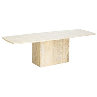 Mid-Century Italian Travertine Coffee Table For Sale