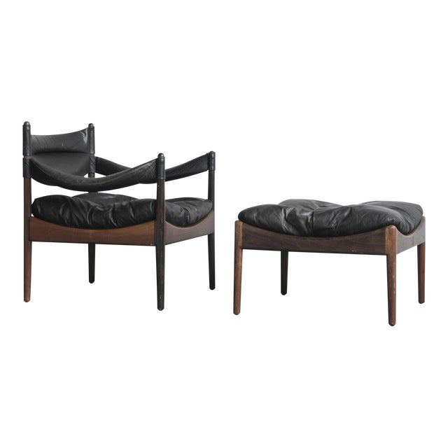 Kristian Solmer Vedel Modus Lounge Chair & Ottoman - Image 1 of 8