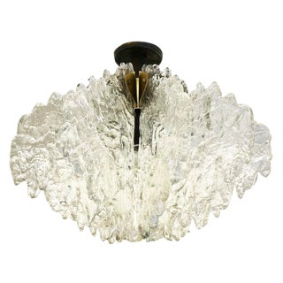 Textured Glass Ceiling Light by ZeroQuattro For Sale