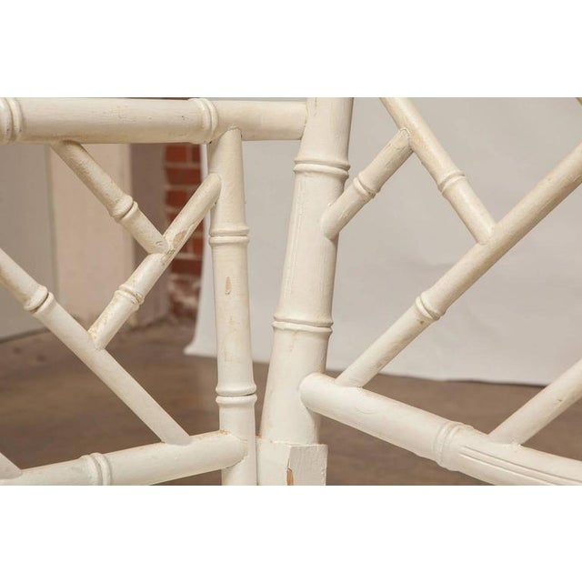 Chinese Chippendale Faux Bamboo Armchairs - Pair - Image 4 of 8
