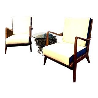Gio Ponti Mid Century Model N.516 Club Chairs, Circa 1954 - A Pair For Sale