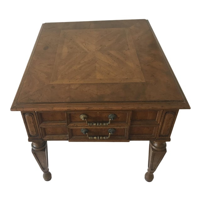 1970s Traditional Heritage Side Table For Sale