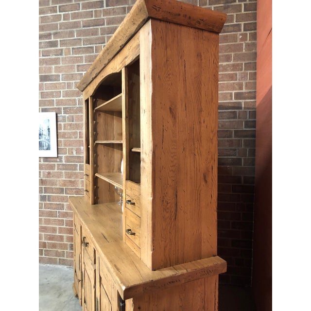 French Italian Solid Oak Buffet For Sale - Image 3 of 13