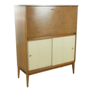 Contemporary Paul McCobb Secretary Desk With Drop Leaf For Sale