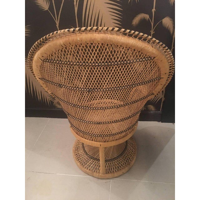 Rattan Wicker Peacock Children's Dining Table Chairs Set For Sale In West Palm - Image 6 of 12