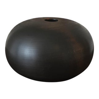 Ebonized Turned Cherry Wood 'Hollow' Vessel No. 1 For Sale