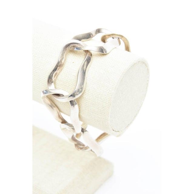 Metal Angela Cummings for Tiffany Sterling Silver Modernist Sculptural Link Bracelet For Sale - Image 7 of 8