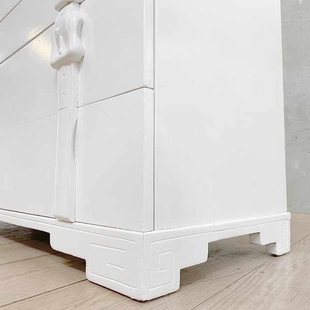 Mid 19th Century Modern White Painted Chests of Drawers - a Pair For Sale - Image 5 of 7