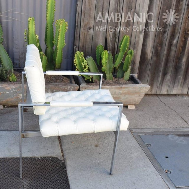 Milo Baughman for Thayer Coggin Tufted Armchair For Sale In San Diego - Image 6 of 10