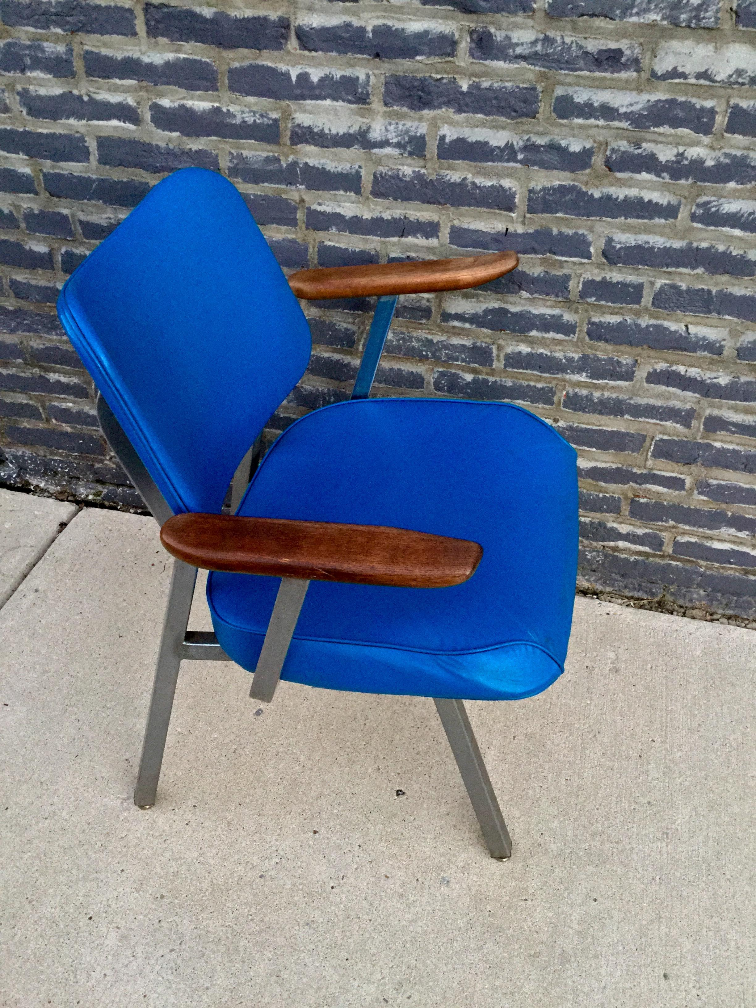 royal comfort office chair royal. Inter Royal Mid-Century Blue Vinyl Office Chair - Image 3 Of 6 Comfort M