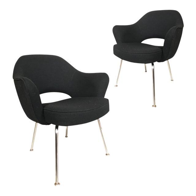 Knoll Eero Saarinen Executive Armchairs - A Pair - Image 1 of 4