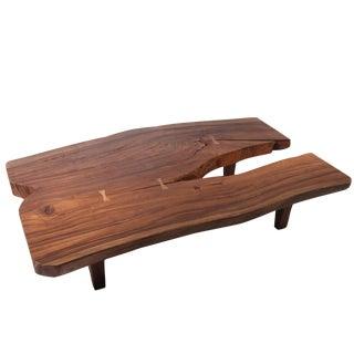 Organic Modern Natural Split End Living Edge Coffee Table For Sale