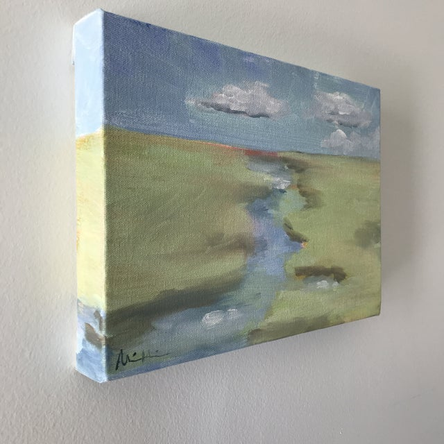 """""""Spring Tide"""" marsh scene Acrylic on canvas 9x12"""" By Alice Miles"""