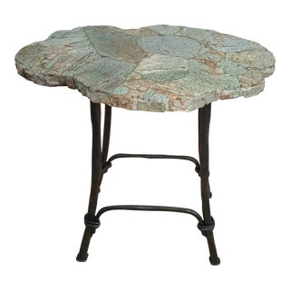 Bernhardt Stone Top Accent Table