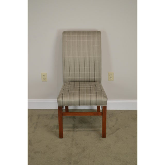 2000 - 2009 Stickley 21st Century Collection Set of 6 Cherry Upholstered Dining Chairs For Sale - Image 5 of 13