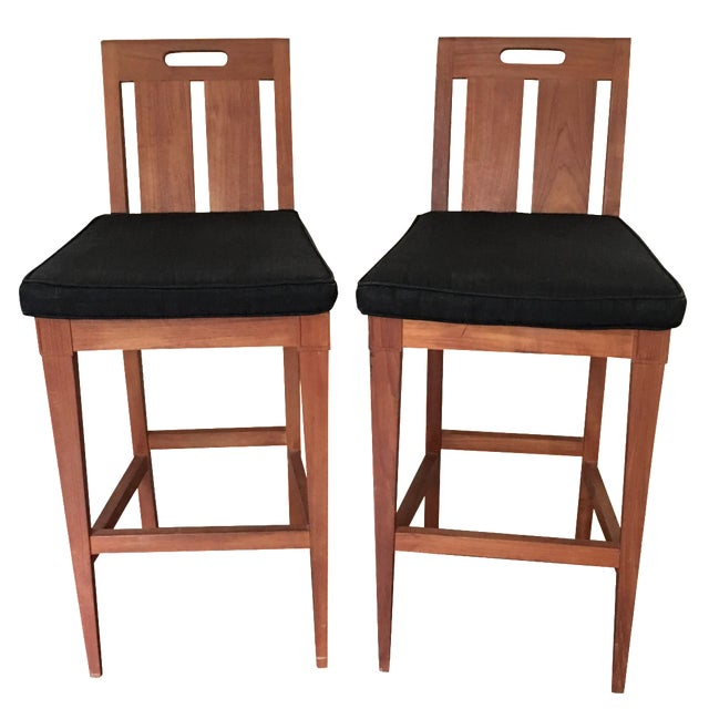 Sutherland by John Hutton Bar Chairs - A Pair For Sale