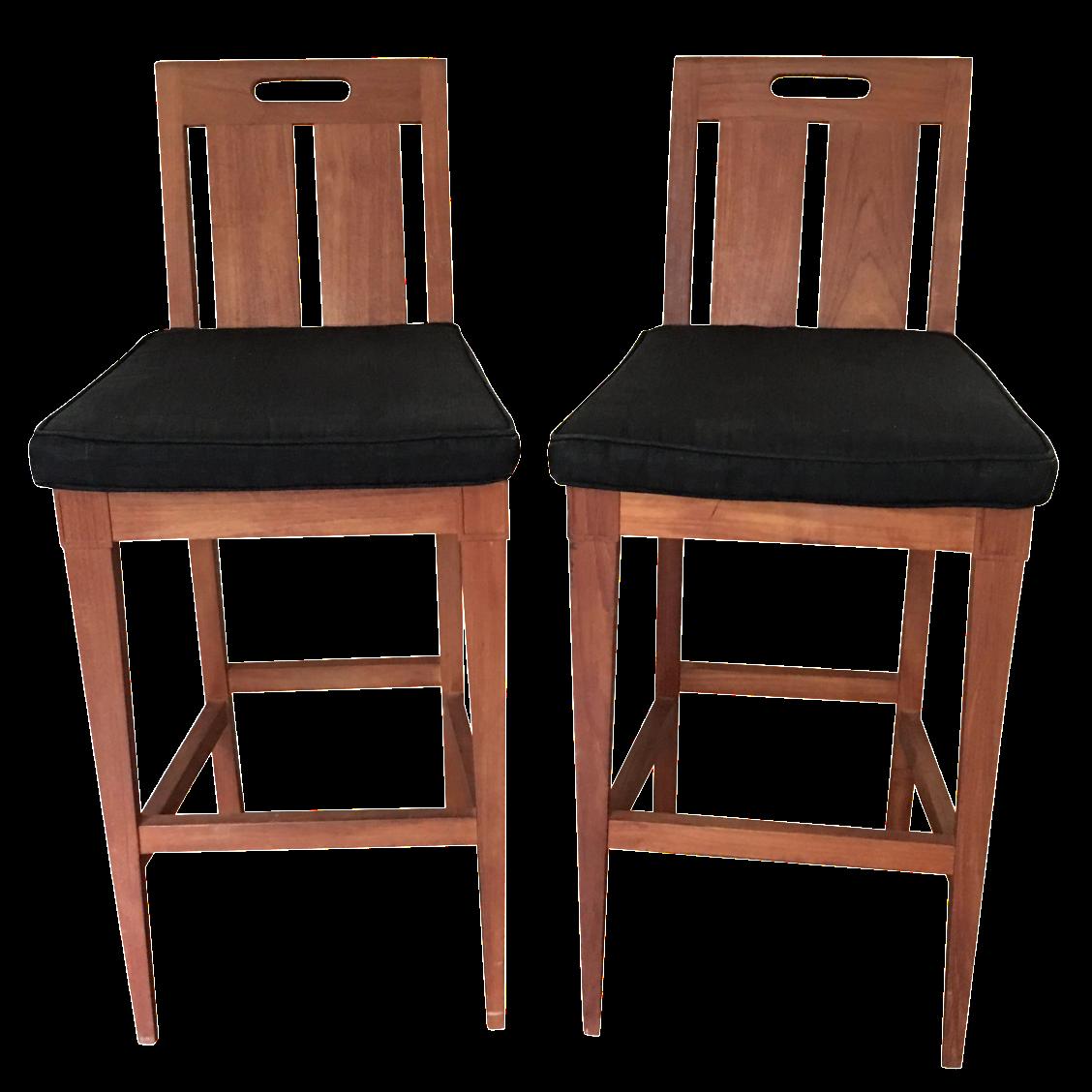Sutherland By John Hutton Bar Chairs   A Pair