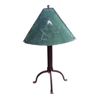 Original Bernard Collin Table Lamp With Copper Lampshade For Sale