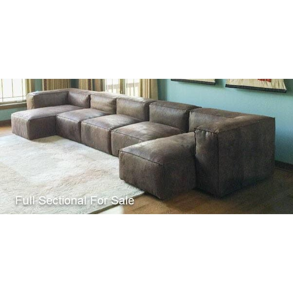Modern Restoration Hardware Distressed Leather Sectional For Sale - Image 11 of 11