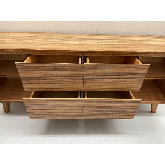 Mid-Century Modern Mid Century Modern Solid Wood Credenza For Sale - Image 3 of 6